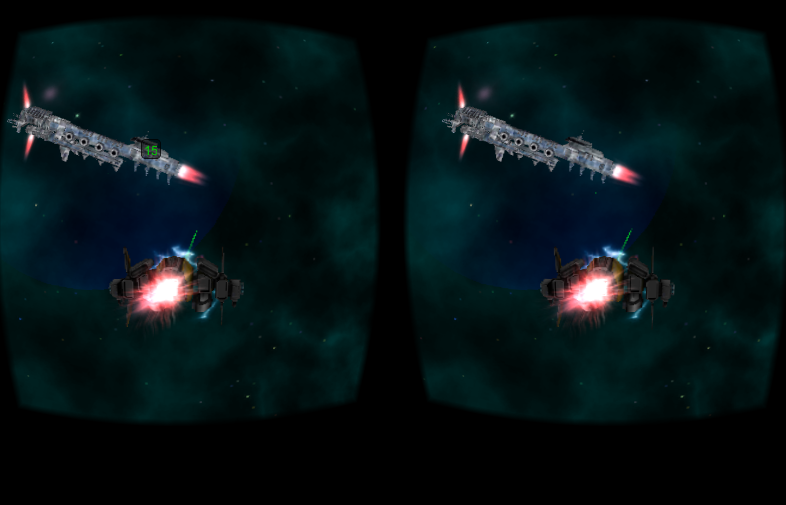 screenshot 1 Cardboard 3D VR Space FPS game content image